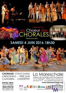 AU CHOEUR DES CHORALES 7ème édition 2016
