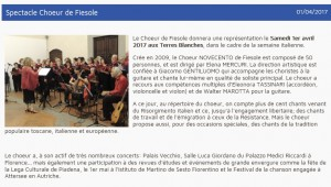 Spectacle Choeur Fiesole